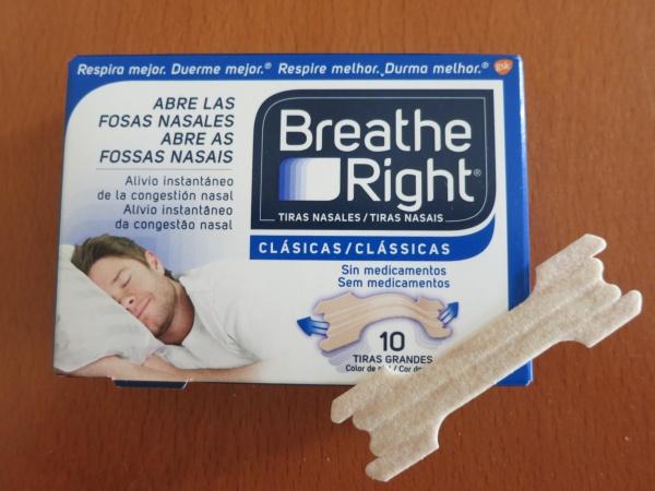 Tira nasal para respirar mejor