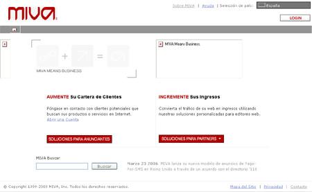 Página web de Miva