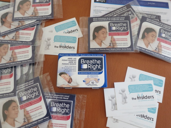 prueba de Breathe Right gracias a the insiders